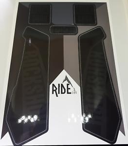Enduro RockShox Pike decals et autocollants Furtif Noir//Gris DH