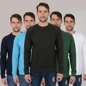 NUOVA-Linea-Uomo-Sudore-Felpa-Maglione-Maglione-Top-Pullover-Abbigliamento-Da-Lavoro-Raglan-S-2XL-UK
