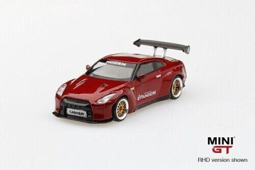 MINI GT MGT00092-R 1//64 PANDEM NISSAN GT-R R35 GT WING LAVA RED RHD