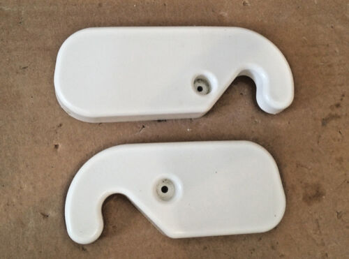 WHIRLPOOL REFRIGERATOR HINGE COVER SET OF 2-2203408 2203407 OFF WHITE