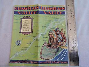 Rare 1930 Lake Champlain New York Vermont Burlington 20-p Brochure