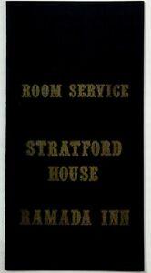 Original Vintage ROOM SERVICE Menu RAMADA INN STRATFORD HOUSE Restaurant Ct.