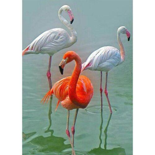 5D DIY Diamond Painting Full Drill Flamingos Decorative Kits Art Embroidery Gift