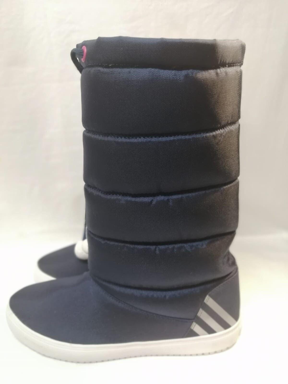 Adidas Seneo Flocon De Neige Bottes Tailles UK 6 Euro 39 Marine Foncé Rose Fleec Doublé Q26409