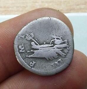 Antique-Coin-SILVER-HADRIAN-Hadrianus-galley-ROMAN-DENARIUS-117-138-AD-0632