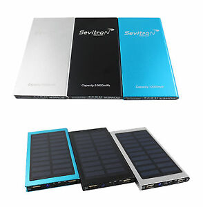 power bank solar 10000 mah ladeger t zusatzakku akku pack. Black Bedroom Furniture Sets. Home Design Ideas
