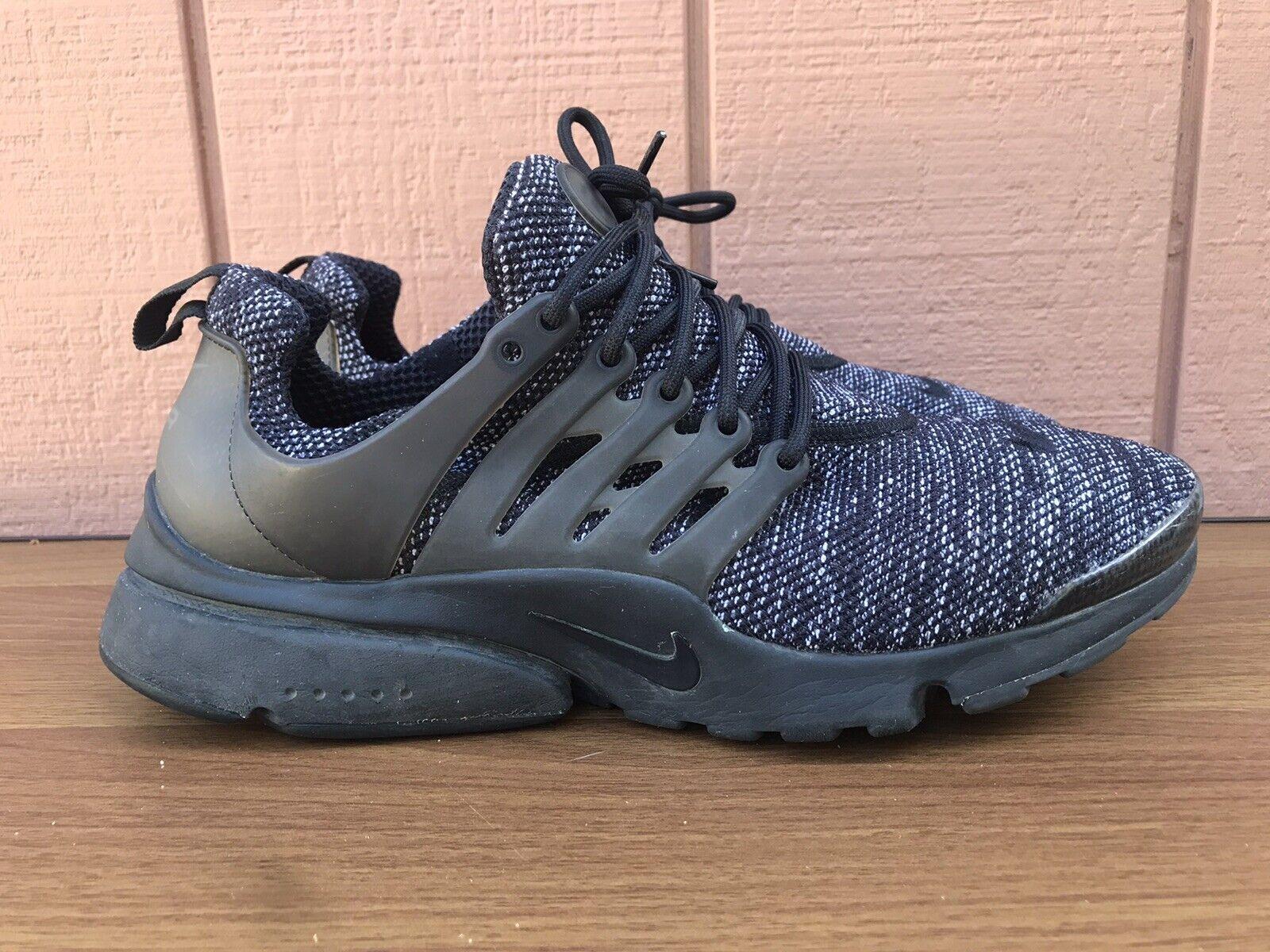 EUC Nike Air Presto Ultra BR Men's US 10 Running Shoes Black Gray 898020-001 C7