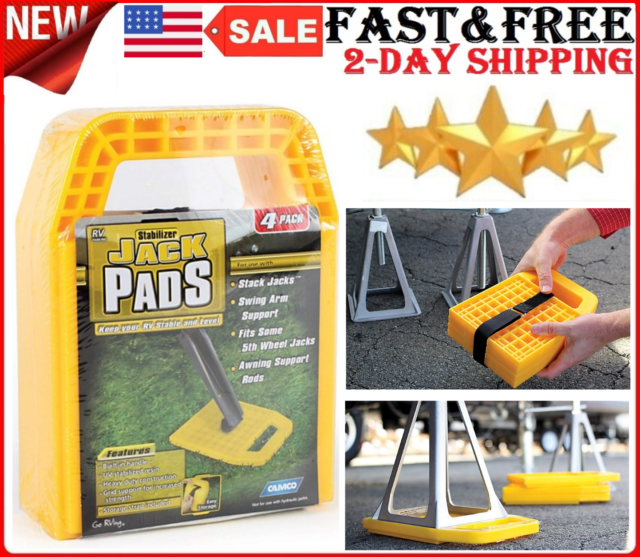 Camper Parts And Accessories Camco Rv Stabilizer Jack Pads Rv Leveling Pads 4 Pk For Sale Online