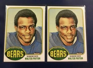 1976-WALTER-PAYTON-ROOKIE-RC-148-Lot-2-Chicago-Bears-Rp-YOU-GET-2