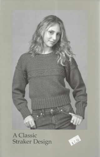 "Gretel Sweater Knitting Instruction Pattern Peggy Straker #876 Women/'s 32/""-42/"""