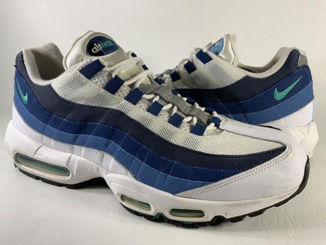 Size 13 - Nike Air Max 95 OG White Slate Blue for sale online   eBay