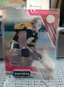 GERRY CHEEVERS BASE 73 UNSCRATCHED BOUNTY CARD + 3 EXTRA SYNERGY BRUINS CARDS
