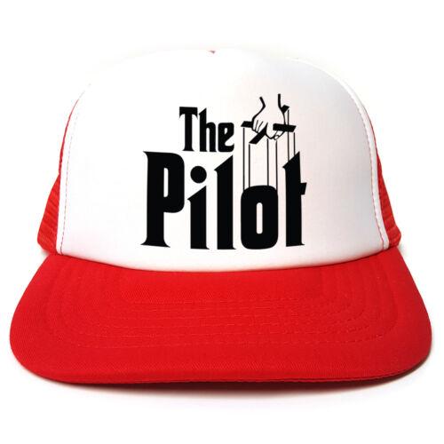 Le pilote-Parrain frauduleux-Drôle Rétro TRUCKER CAP Casquette-Snapback 3 Couleurs