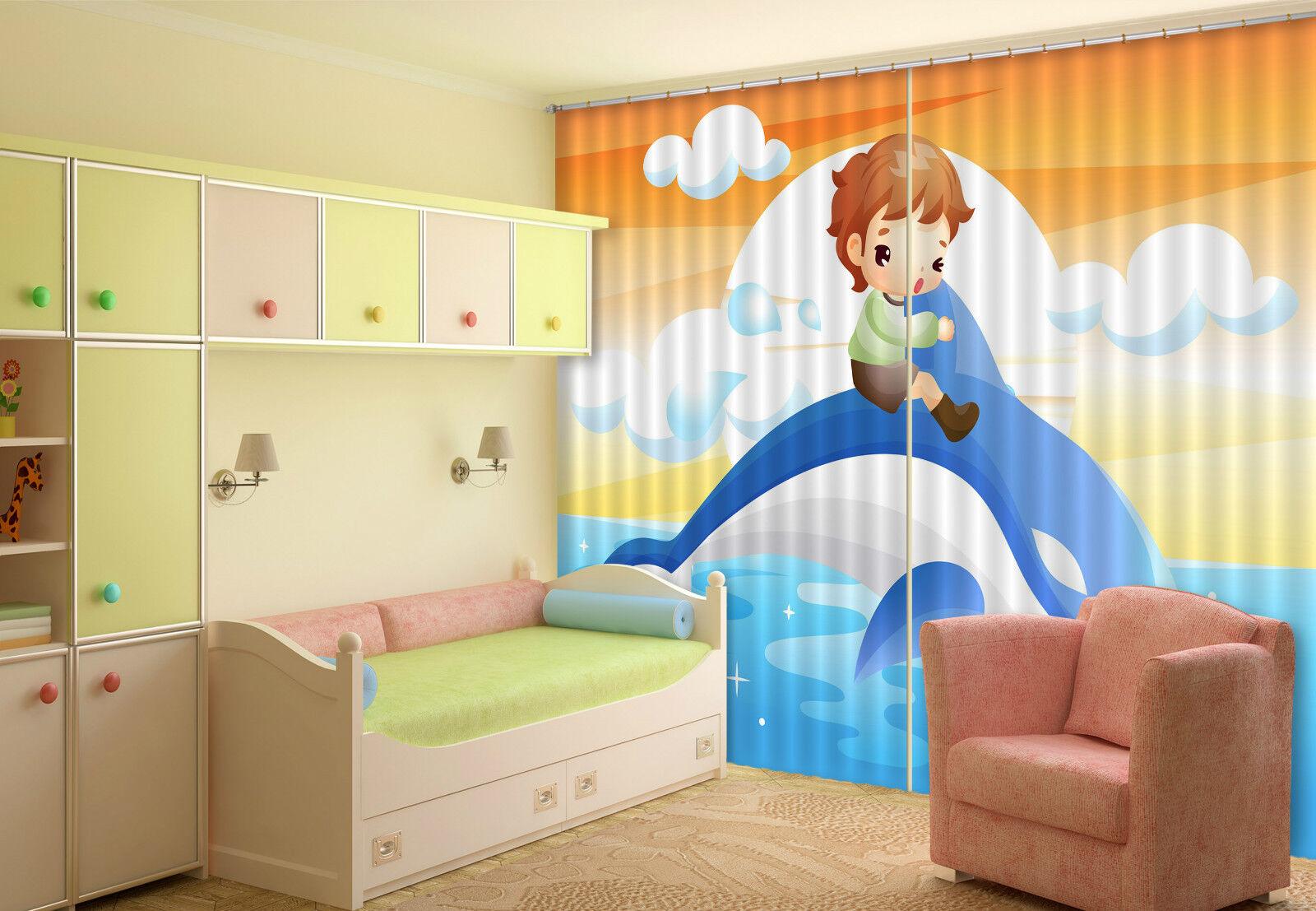 3d nuvola per bambini 353 blocco foto sipario pressione sipario tende tessuto finestra de