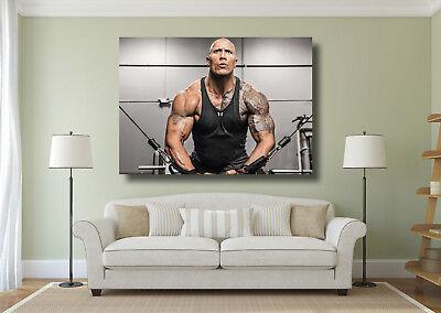 Dwayne /' The Rock /' Johnson Bodybuilding Giant 1 Piece Wall Art Poster Print