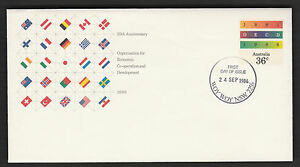First-Day-Of-Issue-Cover-25th-ANNIVERSARY-O-E-C-D-1986-1986-Mint