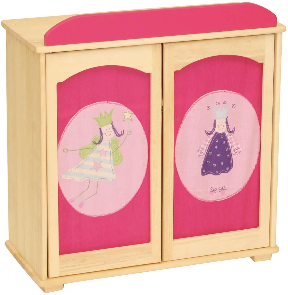 Roba Puppenkleiderschrank Happy Fee Kleiderschrank Puppen Schrank Holz  |rfee