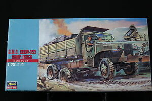 XO110-HASEGAWA-1-72-maquette-voiture-31122-MT22-500-US-Army-G-M-C-CCKW-353-Dump