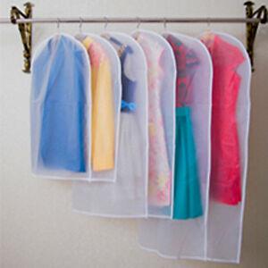 transparent wardrobe storage bags cloth hanging garment suit coat dust cover. Black Bedroom Furniture Sets. Home Design Ideas