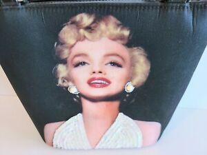Marilyn Monroe Double Handle Shoulder Bag Purse Black Sequined Rhinestones NWT