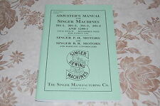 Adjusters Timing & Adjusting Service Manual for Singer 201 & 1200 Sewing Machine