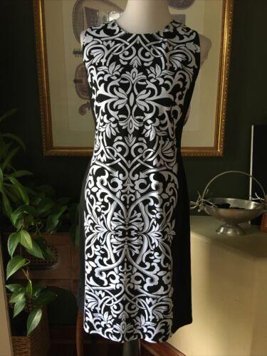 J McLaughlin Black & White Catalina Cloth Sleevele