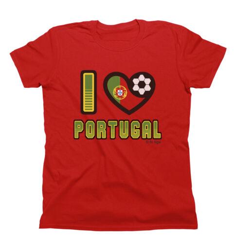 IO Amo Portogallo T-SHIRT WORLD CUP 2018 Uomo Donna O Bambini Famiglia di calcio