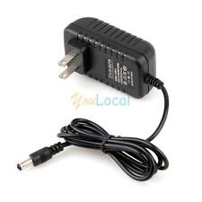 LED Strip Router HUB AC/DC LED Power Supply Cord Adapter Charger 12V 1A Black
