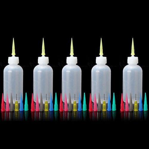 5pcs Plastique Pression Bouteille Transparent Squirt Sauce Condiment de Ketchup