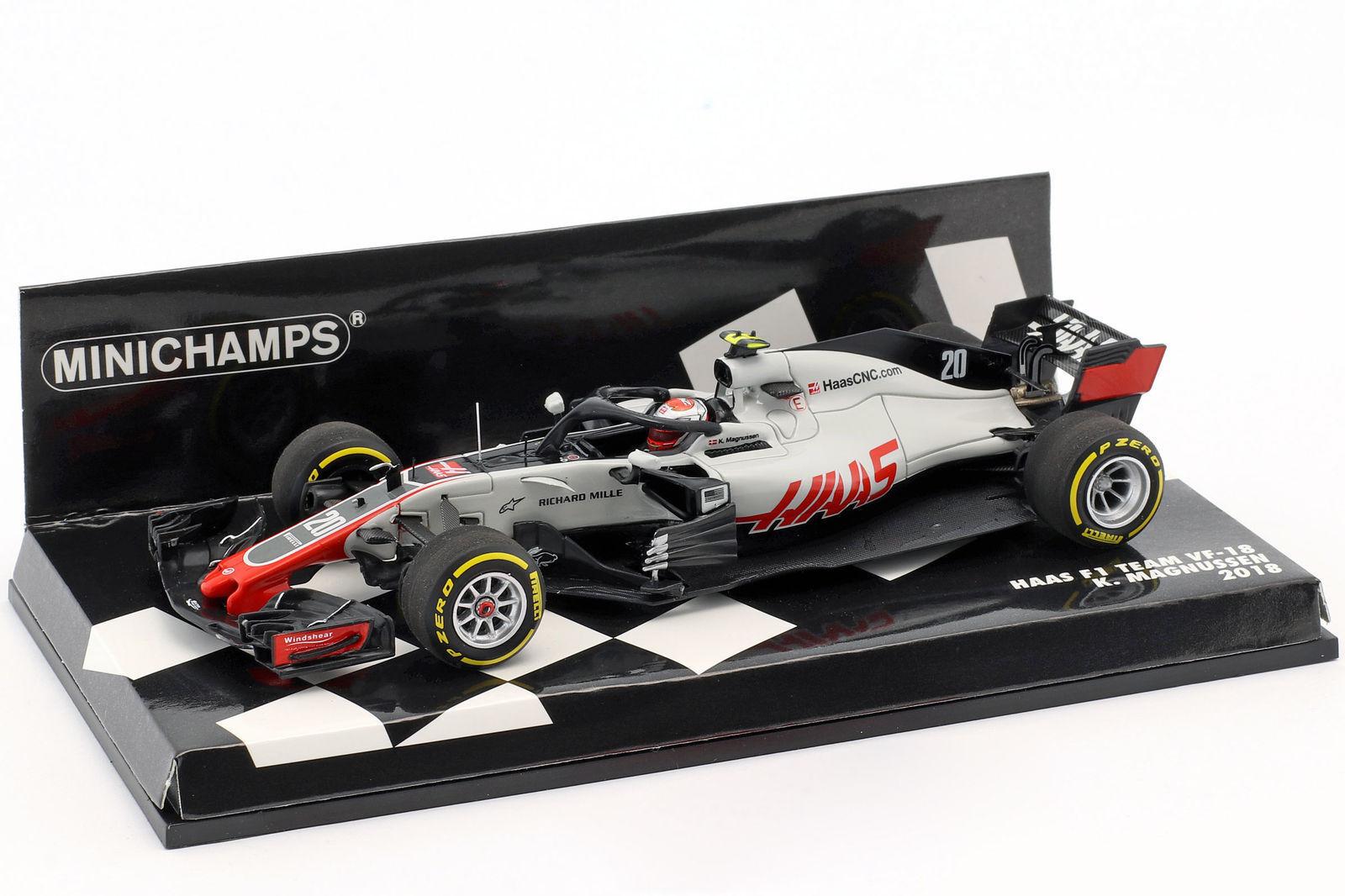 Minichamps F1 1 43rd scale Haas F1 Team VF-18 K. Magnussen 2018