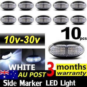 10-X-LED-CLEARANCE-LIGHTS-SIDE-MARKER-LAMP-WHITE-TRAILER-TRUCK-LORRY-10V-30V