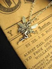 Silver Fairy Necklace Wicca Fantasy Magic Elf Wings Fae Pendant Charm Nouveau