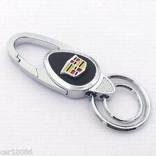 High quality Metal alloy leather car logo key chain Key ring for Cadillac