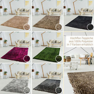 Shaggy-a-poils-longs-shabby-Tapis-weicher-flor-couleurs-polyester-salon
