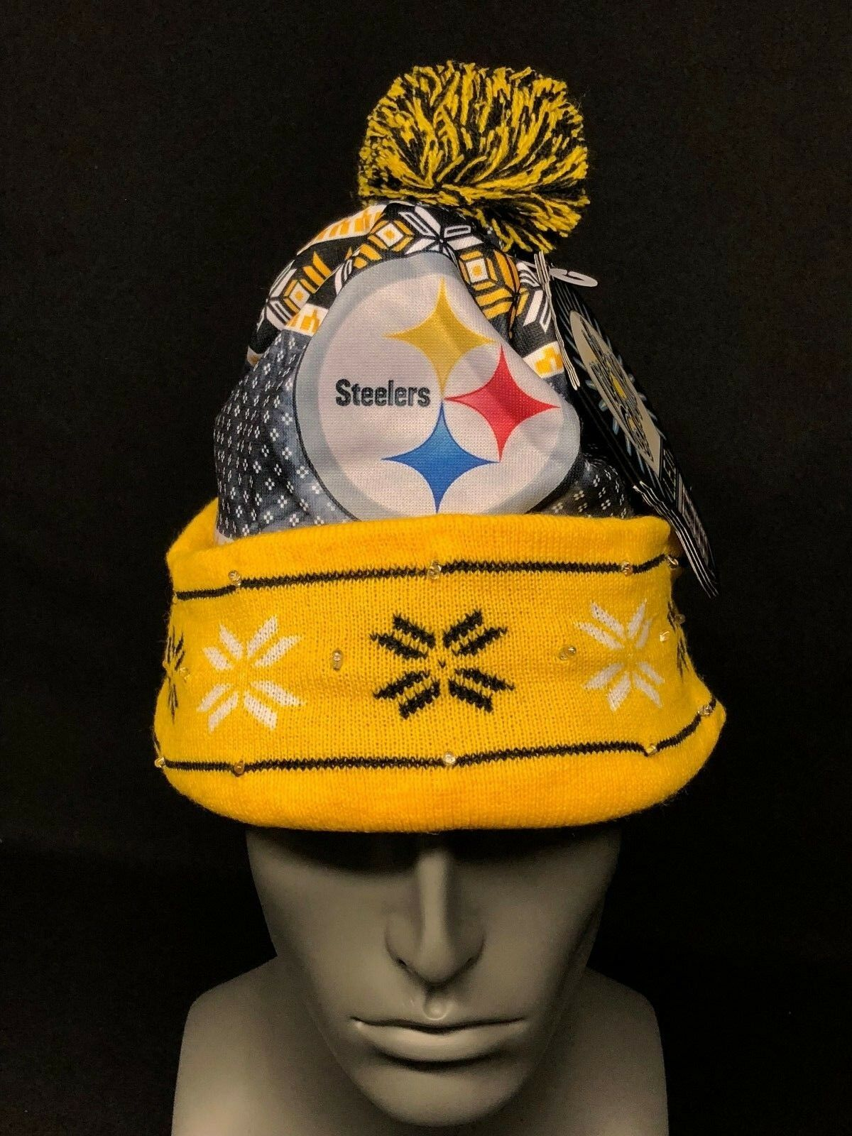 Pittsburgh Steelers Forever Collectibles NFL UGLY Light Up Beanie