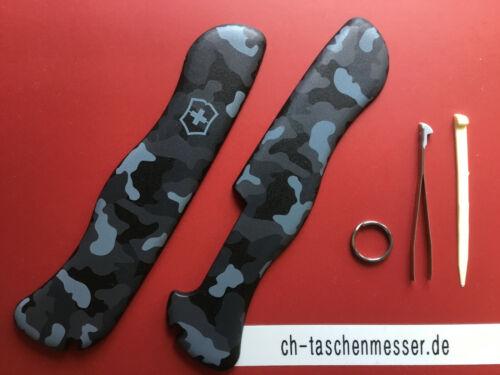 Victorinox Schalen navy camouflage Ersatzteil schweizer Taschenmesser 111mm Set