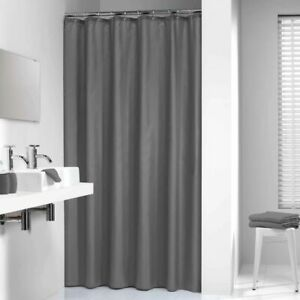 Sealskin-Shower-Curtain-Madeira-120cm-Grey-Waterproof-Bathroom-Bath-238501114