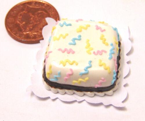 Escala 1:12 plaza de varios colores Glaseado Pastel tumdee Casa De Muñecas Accesorio NC4