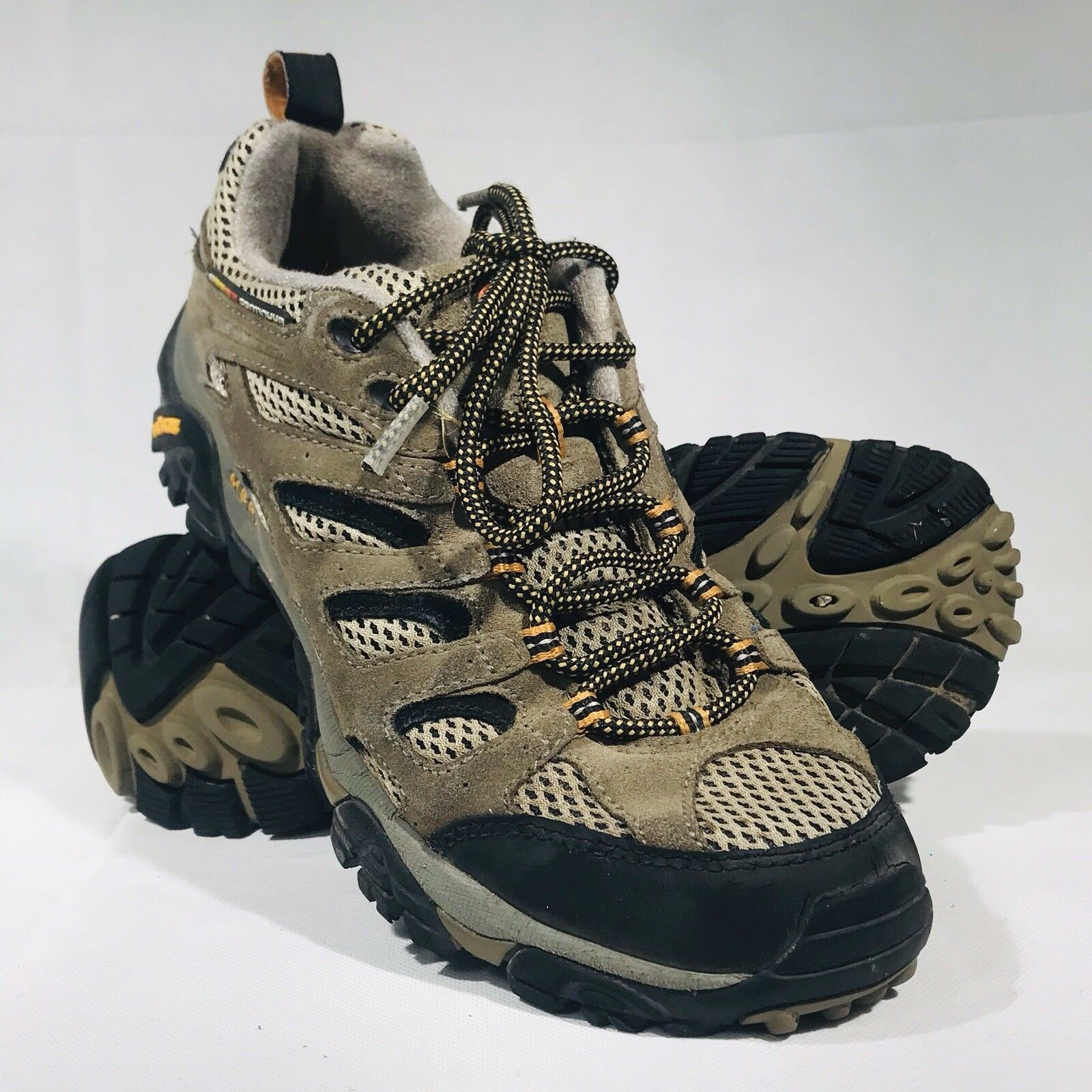 Merrell Continuum Vibram Mens Waterproof Hiking shoes In Walnut Size 8 [ZZ7]