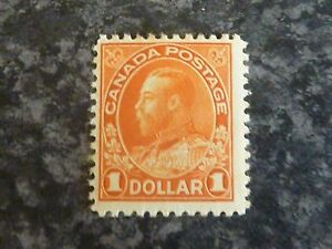 CANADA POSTAGE STAMP SG255 BROWN ORANGE $1 LIGHTLY-MOUNTED MINT