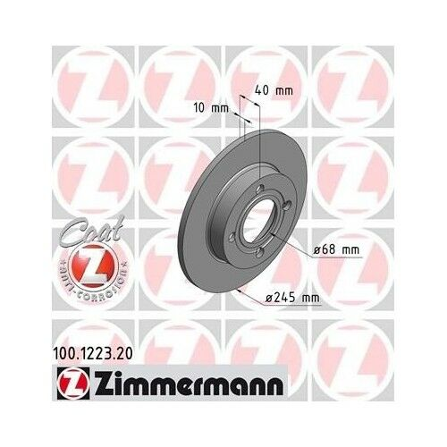 2x ZIMMERMANN Bremsscheiben AUDI 80 81 85 B2 AUDI 80 89 89Q 8A B3 AUDI COUPE 89