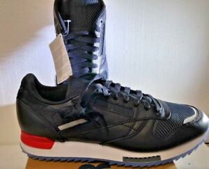 7208e2cf7b32b1 Details about MENS REEBOK CLASSIC CL LEATHER RIPPLE LOW BP BS5218  Black White Red Dust-Ice