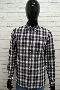 Camicia-Donna-GUESS-Taglia-Size-M-Maglia-Blusa-Shirt-Woman-Cotone-Bianco-Blu