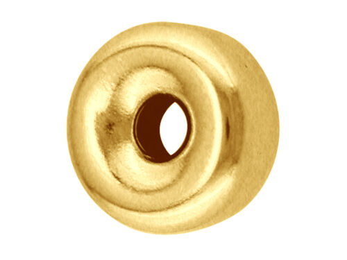 1 nuevo 9 Ct Amarillo Oro Llano Plano del grano diámetro 4 mm para la fabricación de joyas G2