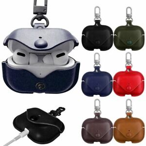 Luxury AirPods Case Protective Leather Skin Cover For Apple AirPod PRO Carabiner