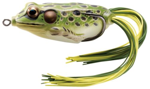 """NEW Koppers Hollow Body Frog Floating 2-5//8/"""" Green//Yellow FGH65T500"""