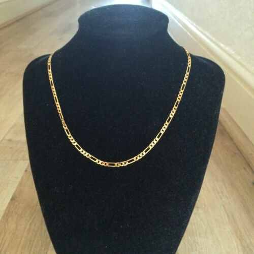 """High Quality Gold Plated 3mm16/"""" Necklace /&7/"""" Bracelet Unisex Birthday Gift"""