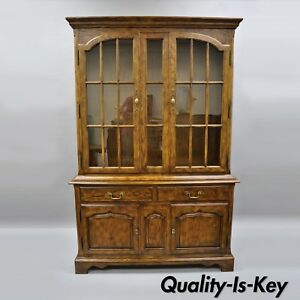 Image Is Loading Drexel Heritage Chatham Oaks China Cabinet Cupboard Lighted