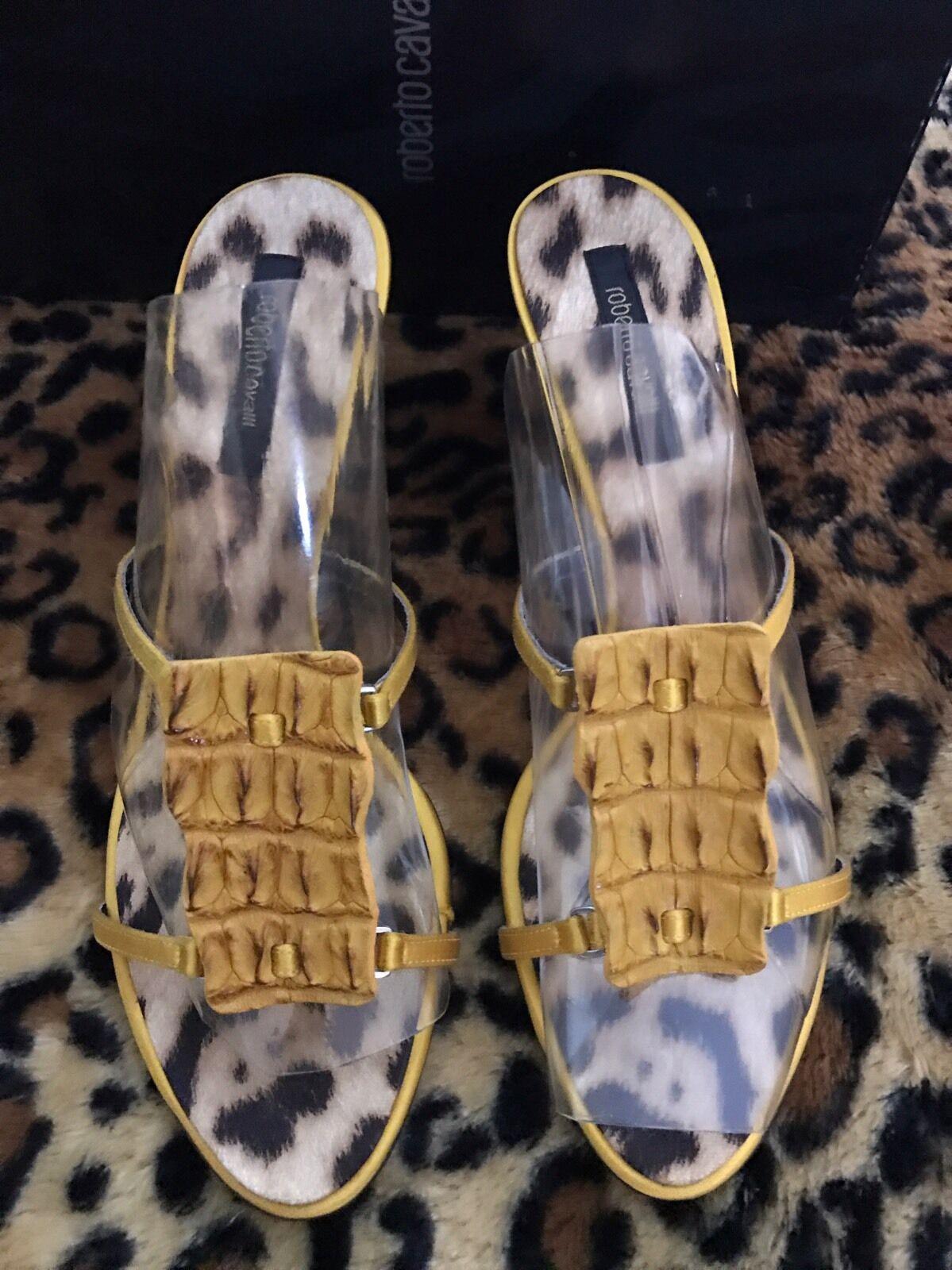 Wt Roberto Cavalli Embass Croc Caramelle Scarpe 39.5 Made in    550  vendite online