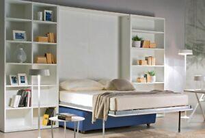 Libreria Letto Matrimoniale : Mobile parete c letto matrimoniale 160x195 a scomparsa divano